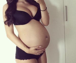 baby bump, pregnancy, and love image