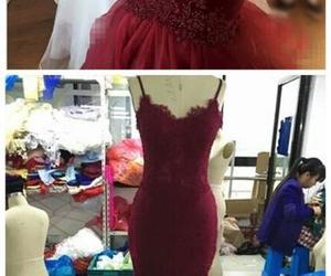 dress, prom dress, and gowns image