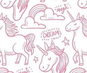 background, unicorns, and wallpaper image