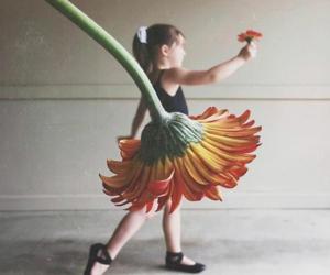 flowers, ballerina, and dance image