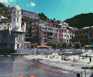 beach, cinque terre, and summer image