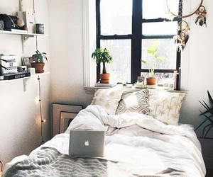 bed, decoration, and dreamcatcher image