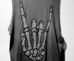 hand, muscle tank, and rock on image