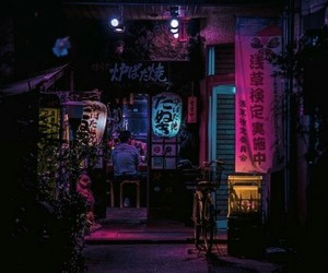 night, japan, and neon image