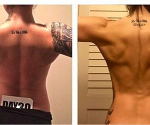back, before and after, and girl image