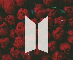 bts, red, and rose image