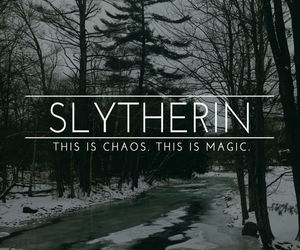 chaos, magic, and slytherin image