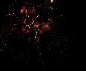 fireworks, city, and dark image