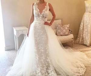 bride, day, and dress image