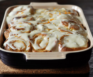 food, delicious, and cinnamon rolls image