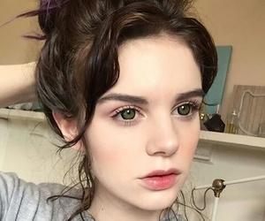 circles, cute girl, and eyes image