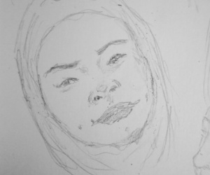 beauty, pencilsketch, and drawing image