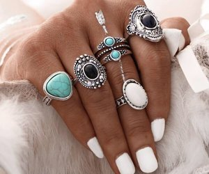 jewels, fashion, and nails image