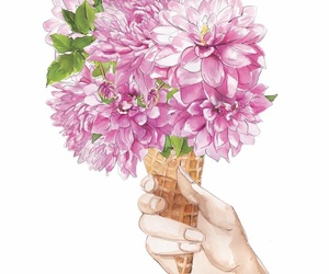 cores, flores, and helado image