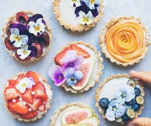 creative, desserts, and flowers image