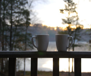 cabin, coffee, and cups image