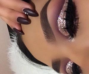 eye, make, and makeup image