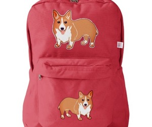 accessories, backpack, and corgi image