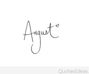 August, summer, and heart image