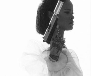 rihanna, gun, and needed me image