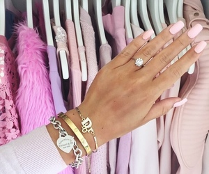 fashion, pink, and nails image