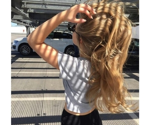 carefree, hair, and tumblr image