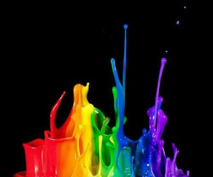 colors, rainbow, and paint image