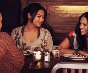 pretty little liars, emily fields, and maya st. germain image