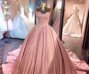 ball gown, fashion, and pink image