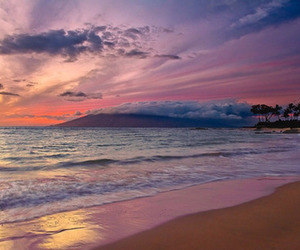 awesome, beach, and clouds image