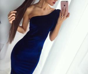 Blue Velvet, fashion, and dress image