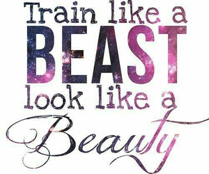 beauty, beast, and fitness image