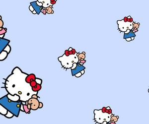 background, hello kitty, and iphone image