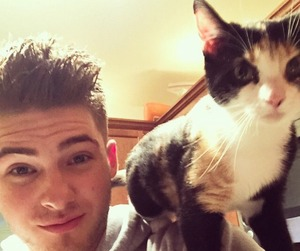 cody christian, cat, and pll image