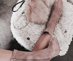 boots, pink, and style image