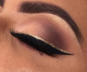 eyeshadow, makeup, and glitter image