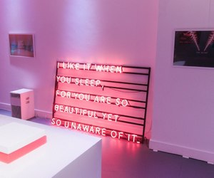 pink, light, and neon image