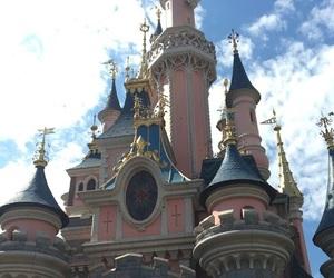 aurora, castle, and disneyland image