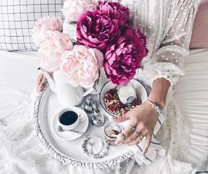 flowers, coffee, and fashion image