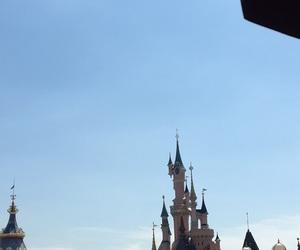 castle, paris, and disney image