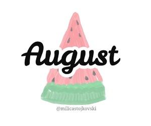 August, printable, and calendar image