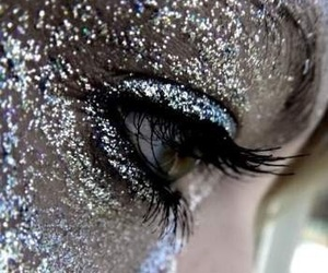 glitter, makeup, and silver image