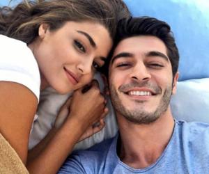 hande erçel, couple, and aşk laftan anlamaz image
