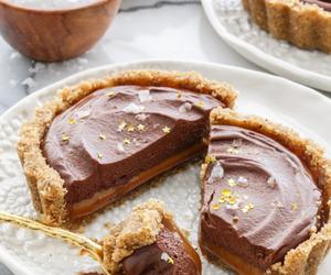 chocolate, desserts, and tart image