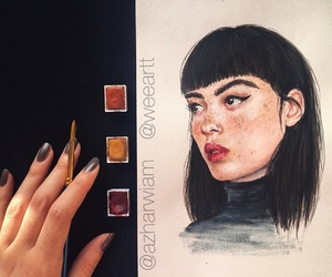 art, freckles, and inspiration image