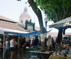 flea market, lisbon, and portugal image