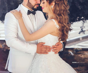 bride and groom, dresses, and photography image