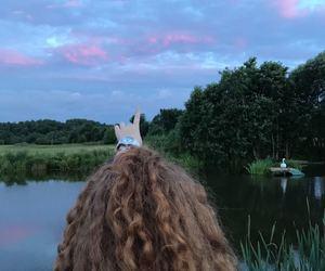 lake, nature, and sky image