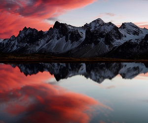 cloud, mountain, and pink image