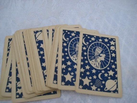 cards, blue, and tarot image